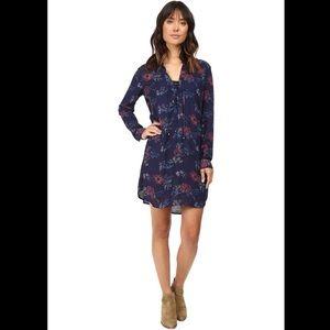 Splendid Cindelle Floral Print Lace-Up Shift Dress